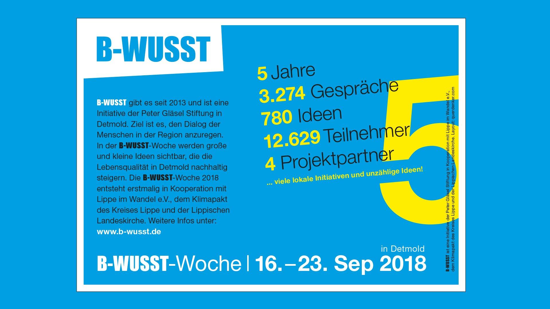 B-WUSST Blende B-WUSST Woche 2018