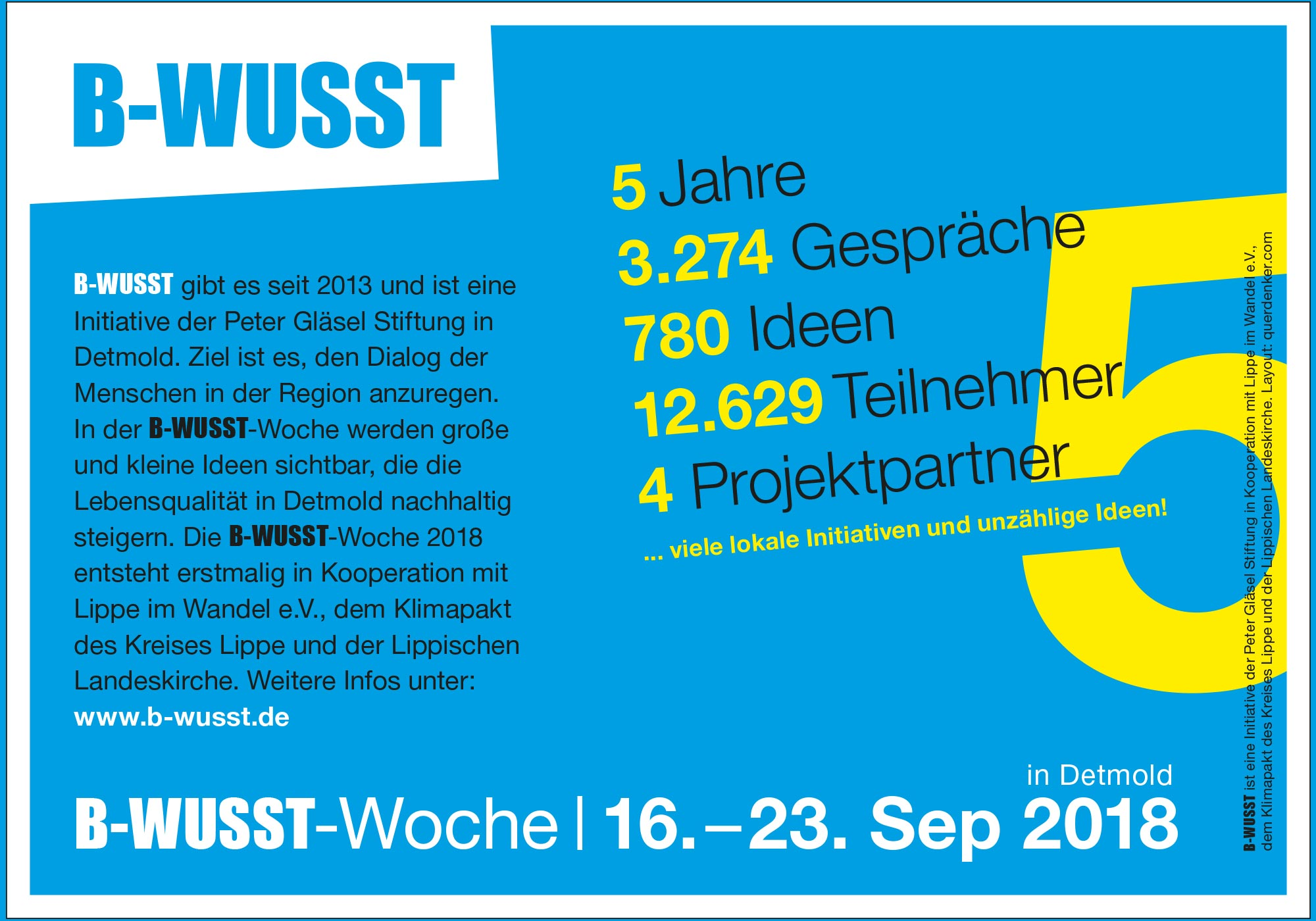 B-WUSST 2018 Blende Start (Grafikblende)
